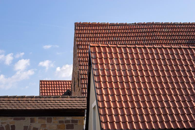 数安置屋顶 库存照片