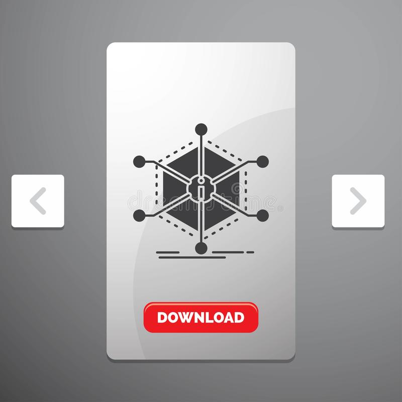 数据、帮助、信息、信息、资源纵的沟纹象在喧闹的酒宴页码滑子设计&红色下载按钮 皇族释放例证