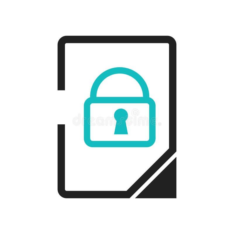 数据与一个关键象传染媒介标志的窗插销在白色背景隔绝的标志和标志,数据与钥匙的窗插销标志 向量例证