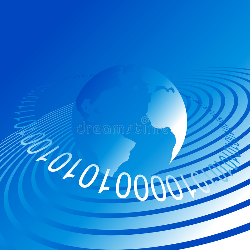 数据世界 向量例证