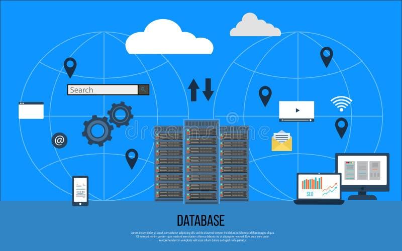 数据中心创造性的概念 皇族释放例证