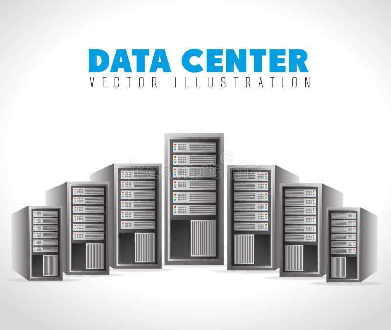 数据中心和主持 库存例证