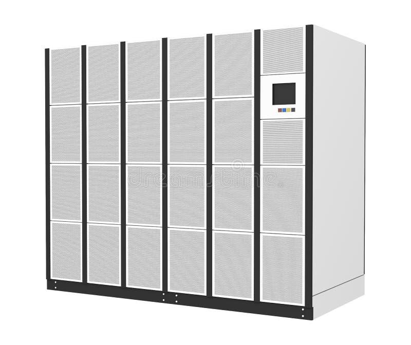 数据中心在白色背景隔绝的电源 皇族释放例证