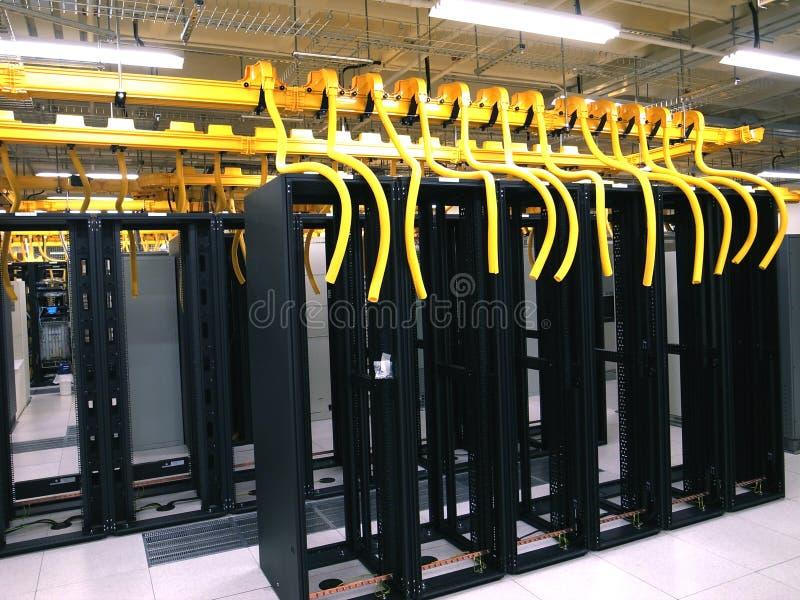 数据中心机架和堆 库存照片