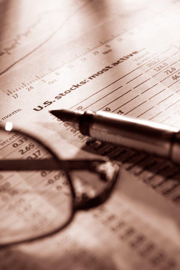数据交换的观察股票 免版税库存照片