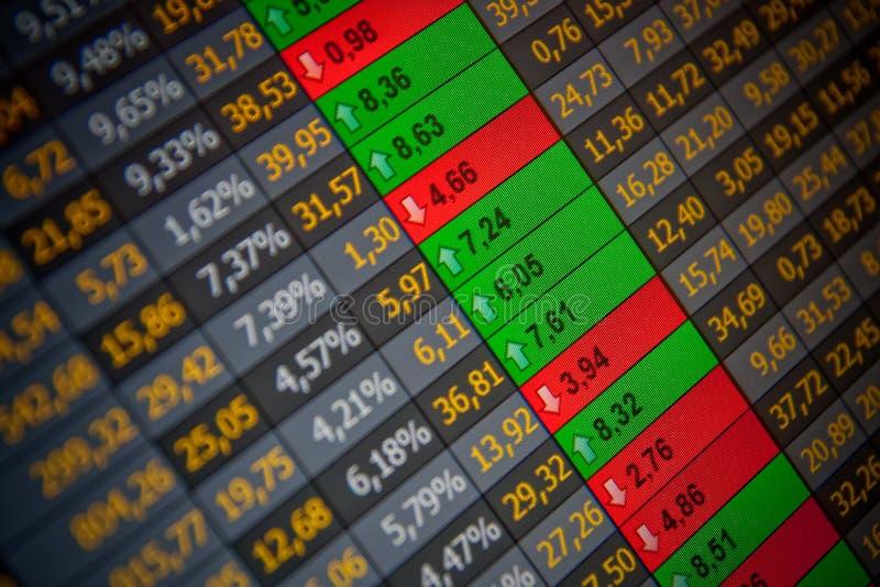 数据交换的财务股票 图库摄影