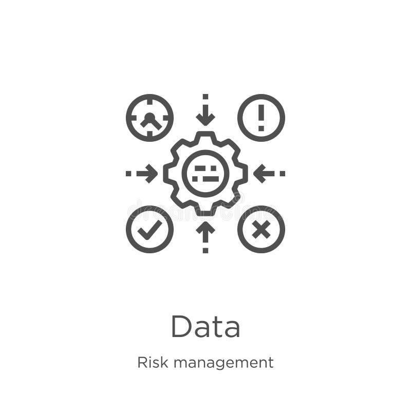 数据从风险管理汇集的象传染媒介 稀薄的线数据概述象传染媒介例证 概述,稀薄的线数据象 向量例证