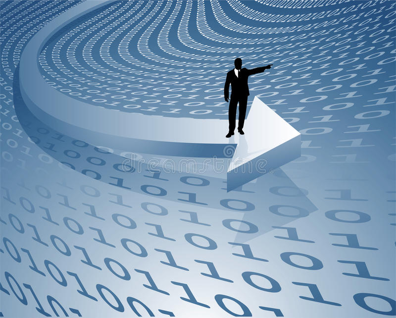 数据传输量 库存例证