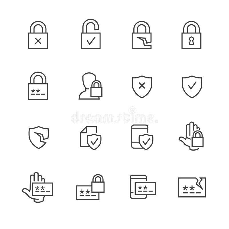 数据保密和密码象 向量例证