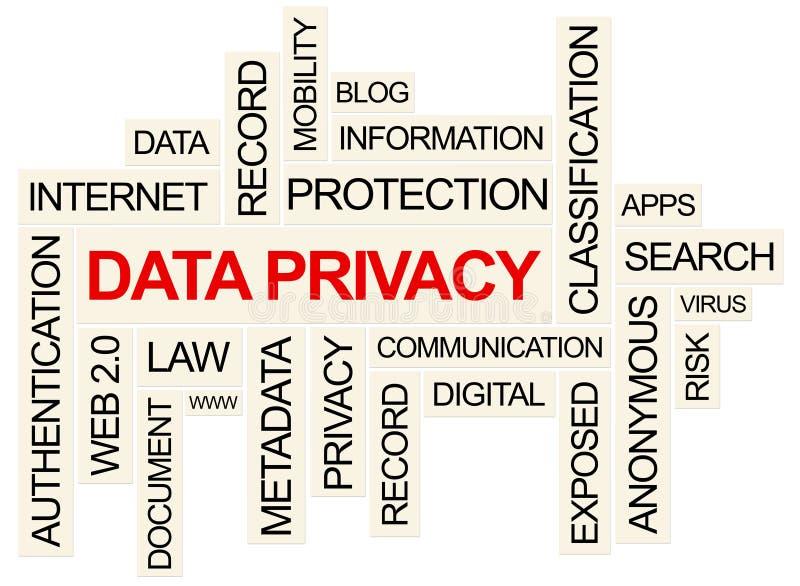 数据保密性 库存例证