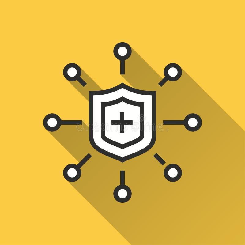 数据保密-图表和网络设计的传染媒介象 向量例证