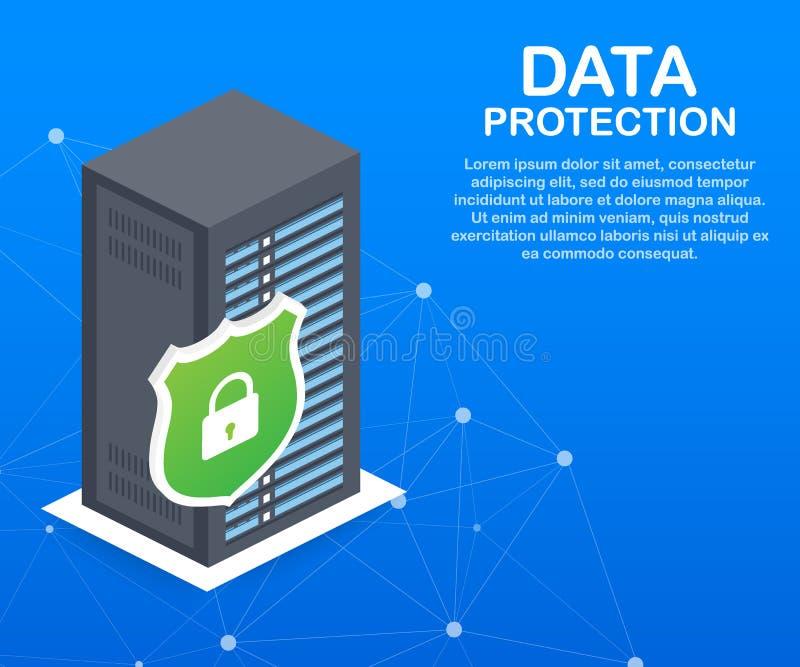 数据保护、保密性和互联网安全 也corel凹道例证向量 向量例证