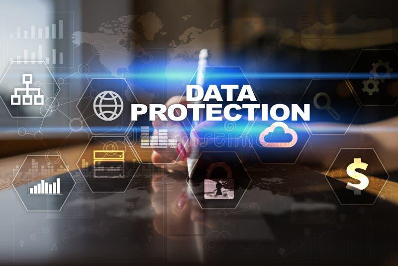 数据保护、网络安全、信息安全和加密 互联网技术和企业概念 库存图片