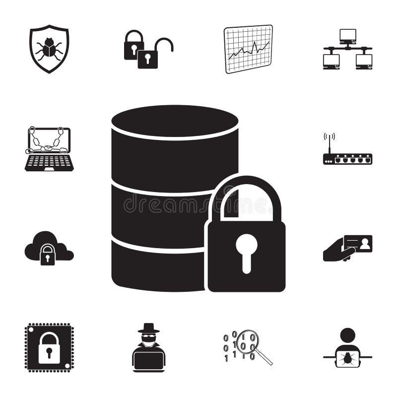 数据保护象 详细的套网络安全象 优质质量图形设计标志 其中一个w的汇集象 向量例证