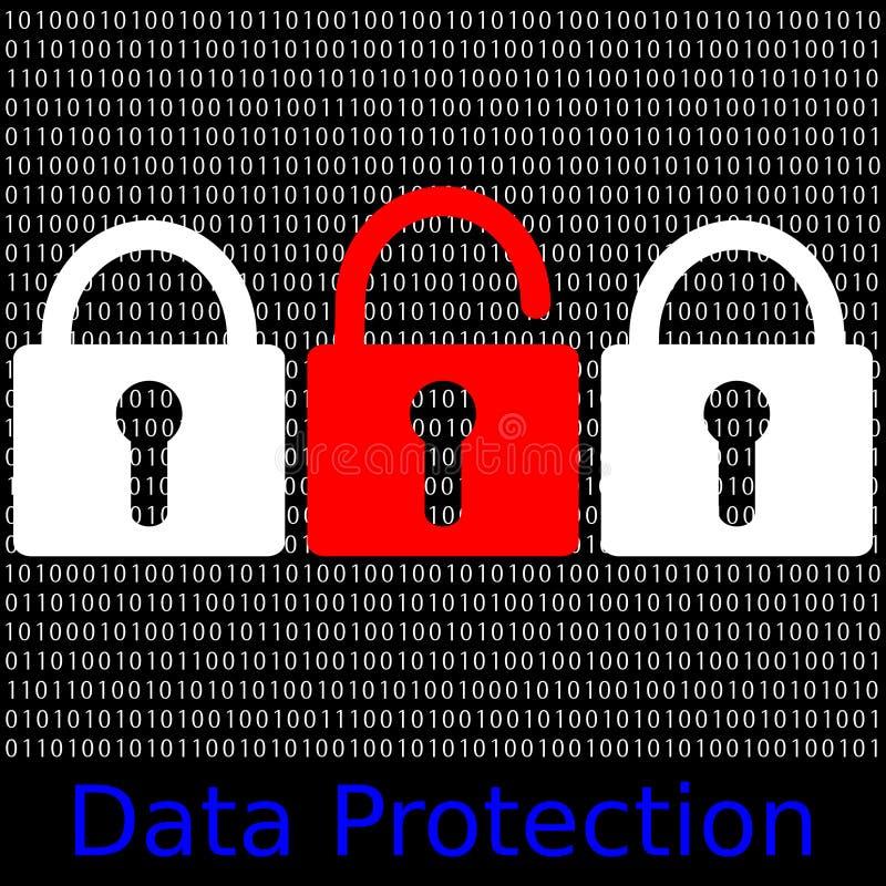 数据保护 库存例证