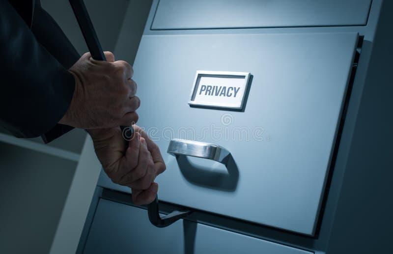 数据偷窃和安全 免版税库存图片