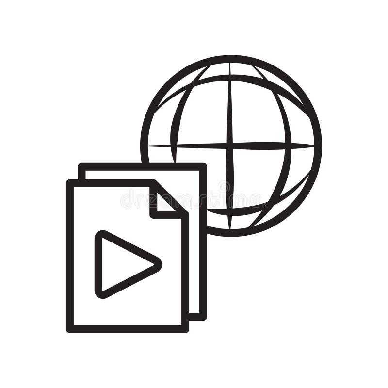数据分享象在白色backg和标志隔绝的传染媒介标志 库存例证