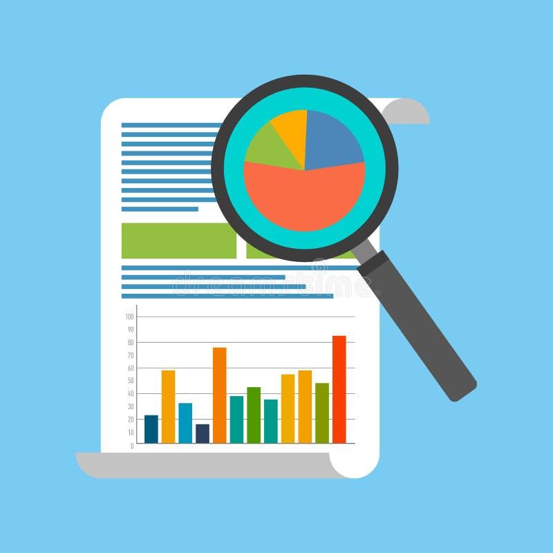 数据分析概念 平的设计 向量例证