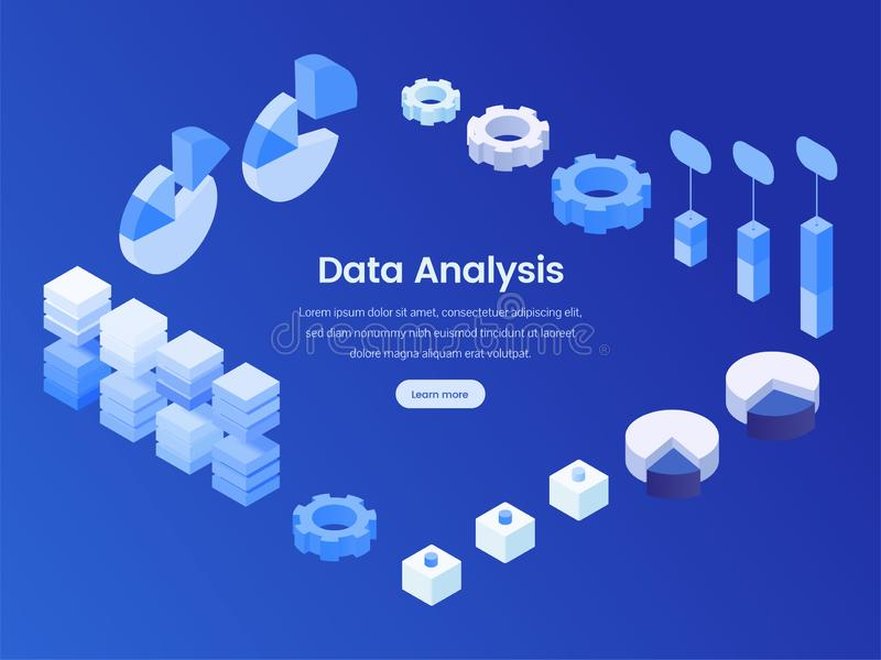 数据分析等量登陆的页 库存例证