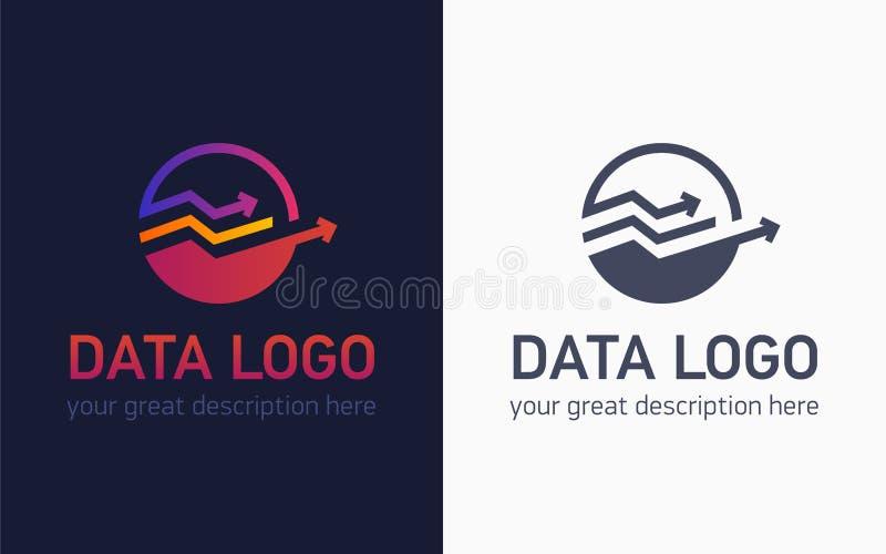 数据商标拷贝 向量例证