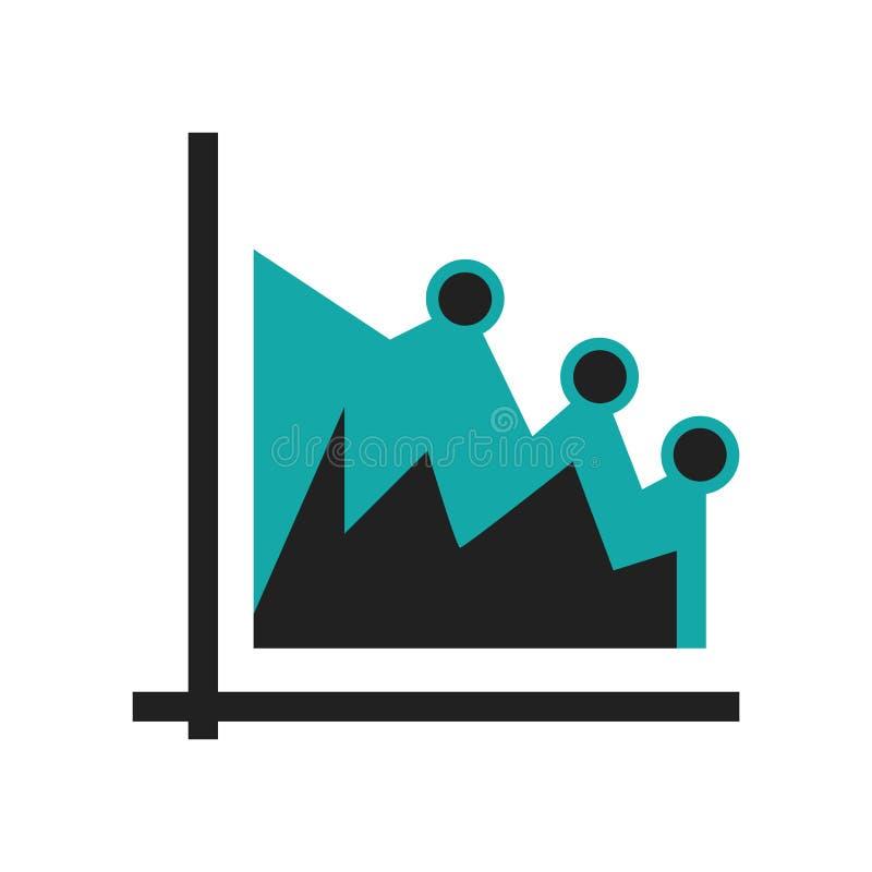 数据图表象在白色背景隔绝的传染媒介标志和标志,数据图表商标概念 库存例证