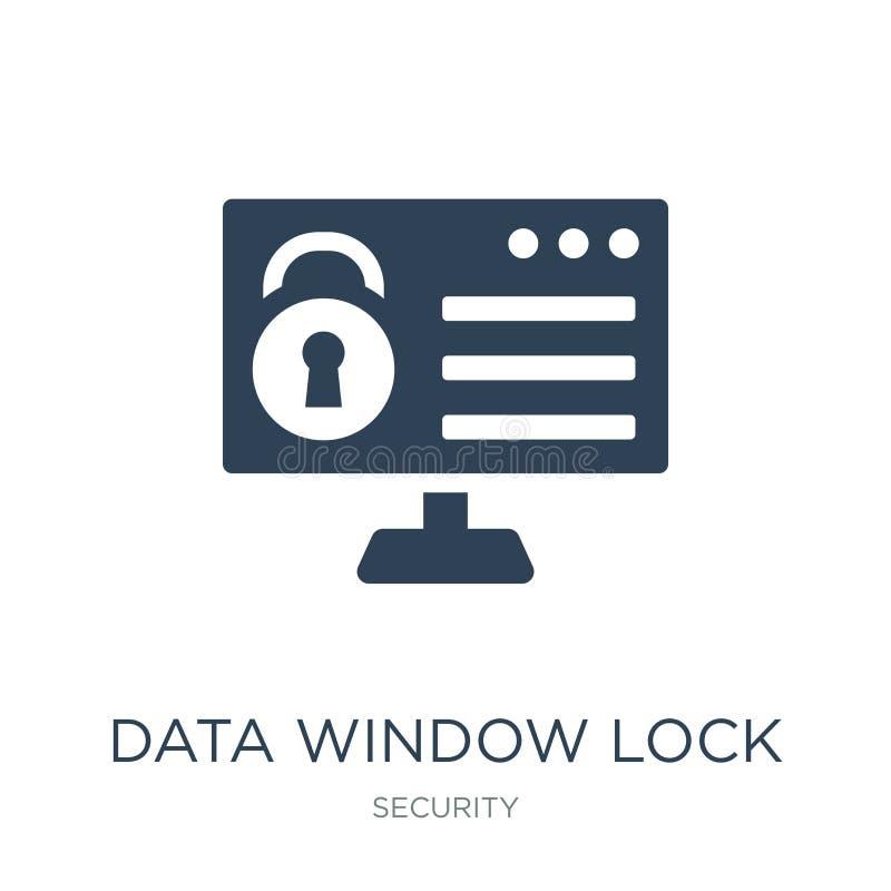 数据在时髦设计样式的窗插销象 数据在白色背景隔绝的窗插销象 数据窗插销传染媒介象 库存例证