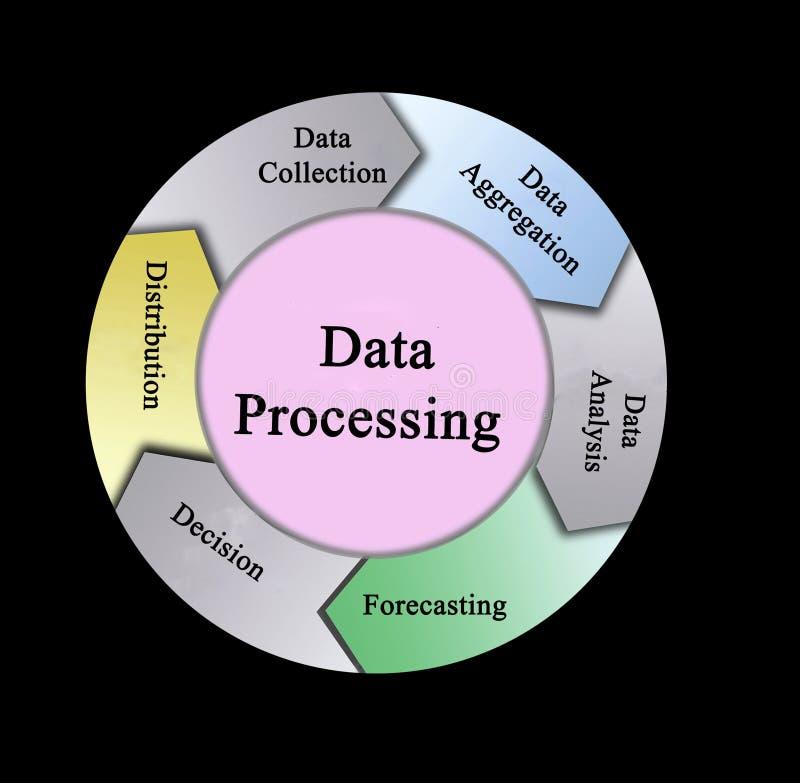 数据处理组分  向量例证