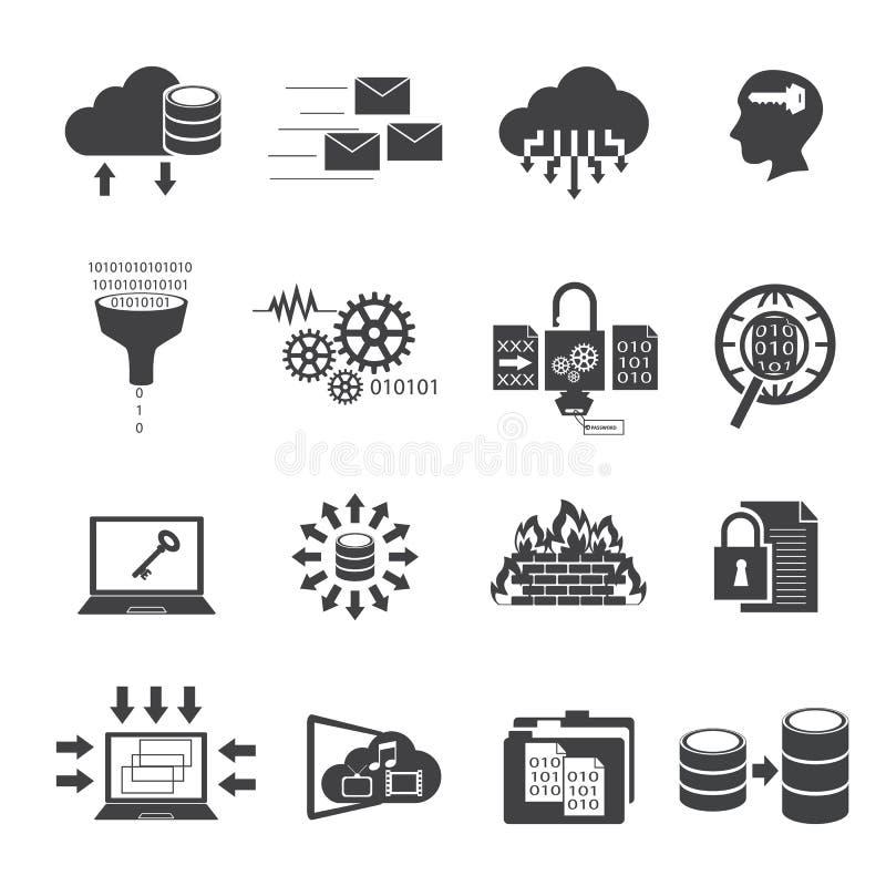 数据存储和系统安全 库存例证