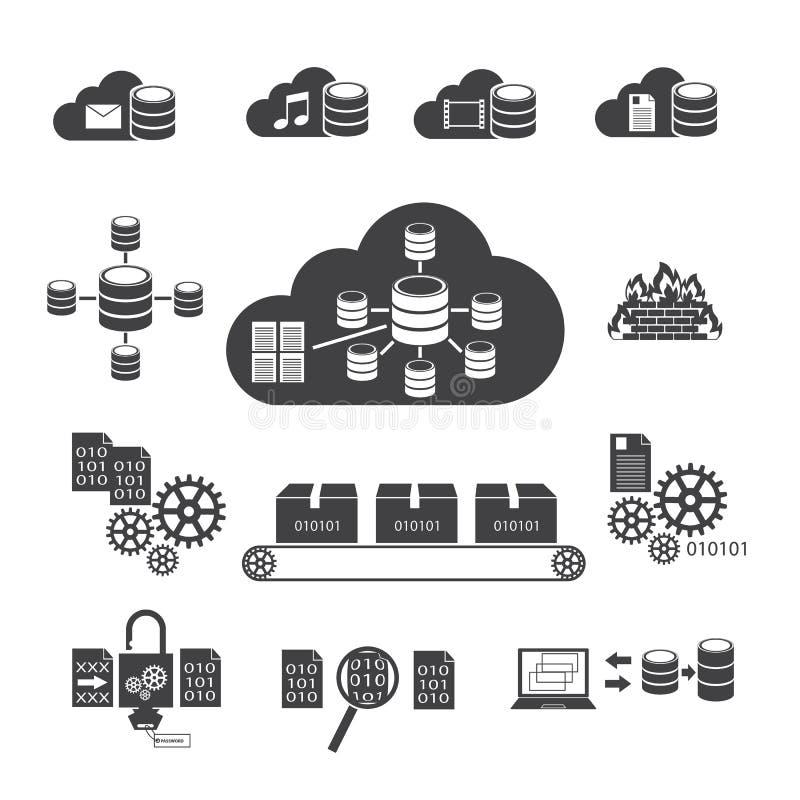 数据存储和系统安全 向量例证