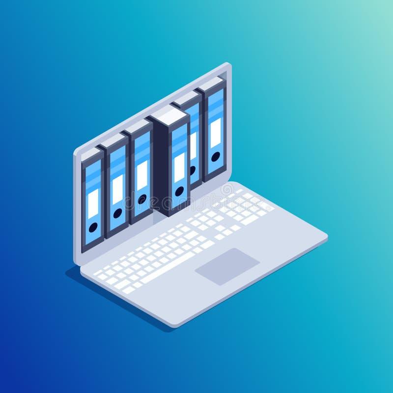 数据存储的等量概念 向量例证
