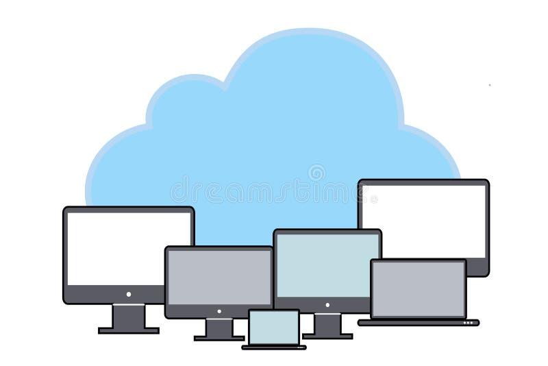 数据存储网络技术 向量例证