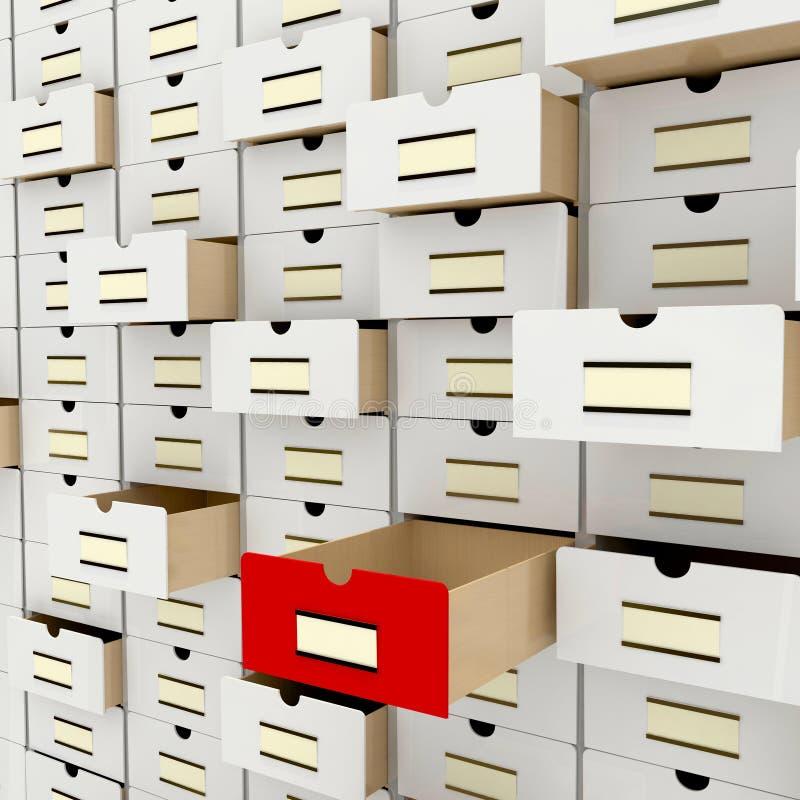 数据存储 向量例证