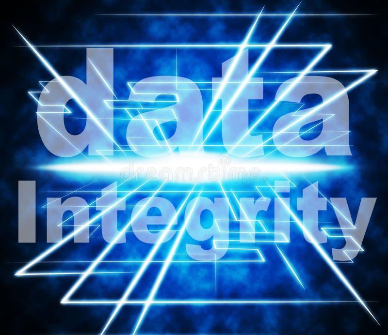 数据完整性代表正直真诚和贞洁 皇族释放例证