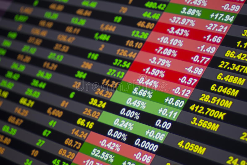 数据市场股票 库存照片