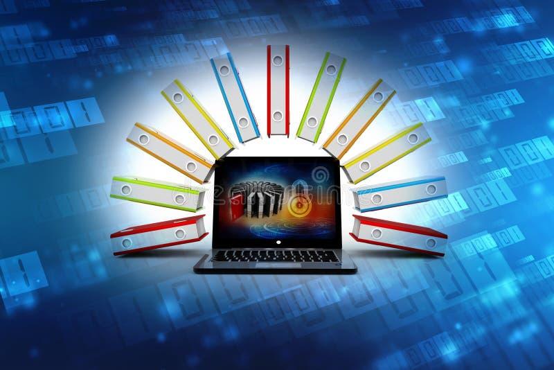 数据库和计算机网络,计算机存储概念 向量例证