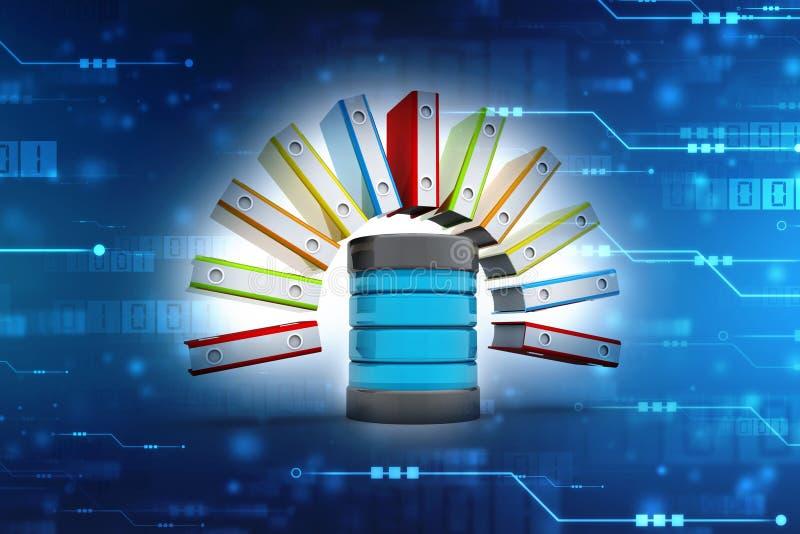 数据库和计算机网络,计算机存储概念 皇族释放例证