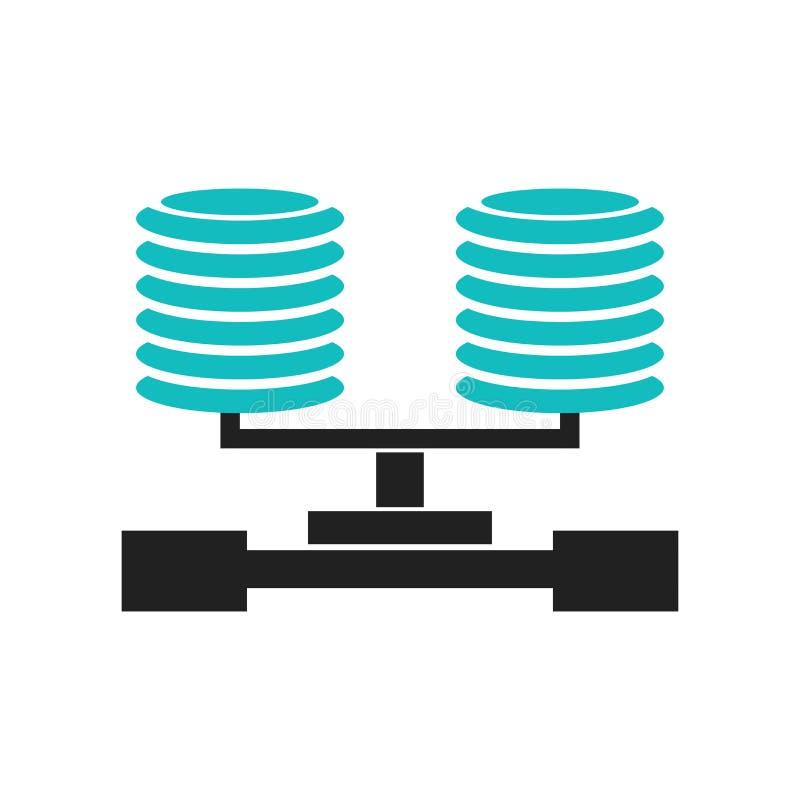 数据库安全连接象在白色背景和标志隔绝的传染媒介标志,数据库安全连接商标概念 向量例证