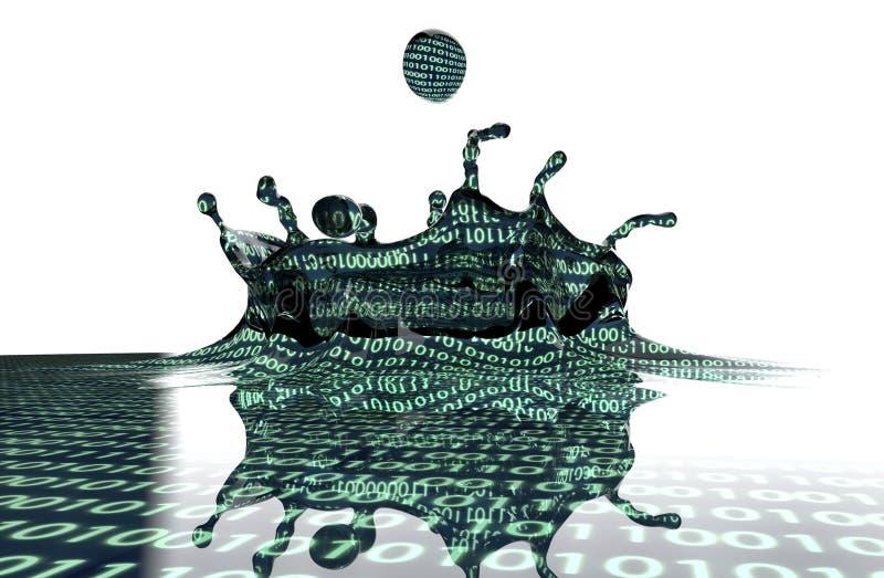 数据库的概念信息海洋  库存例证