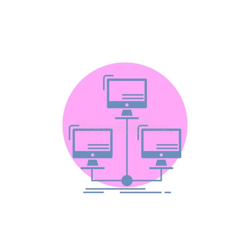 数据库,分布,连接,网络,计算机纵的沟纹象 库存例证