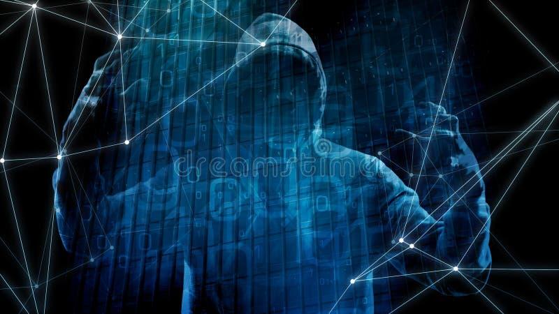 数据攻击威胁的,在网络攻击的银行诈欺算法 向量例证