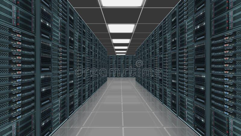 数据服务器中心 向量例证