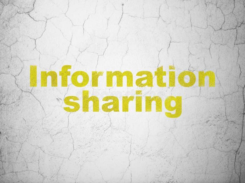 数据概念:在墙壁背景的信息公用 库存例证