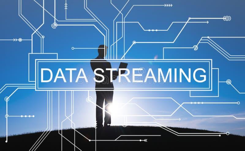 数据流动技术信息传递概念 免版税库存照片