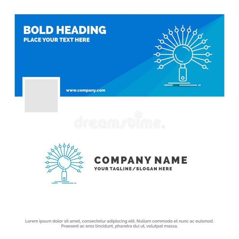 数据的,信息,与信息有关,网络,检索蓝色企业商标模板 r r 向量例证