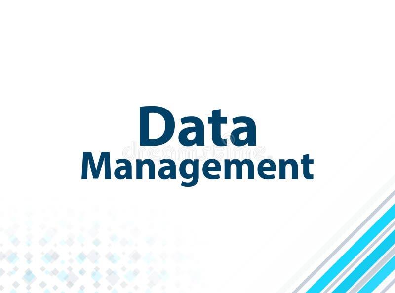 数据管理现代平的设计蓝色抽象背景 皇族释放例证