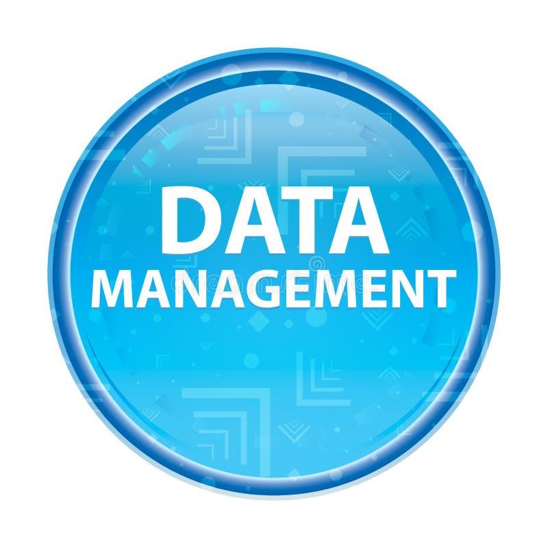 数据管理花卉蓝色圆的按钮 向量例证