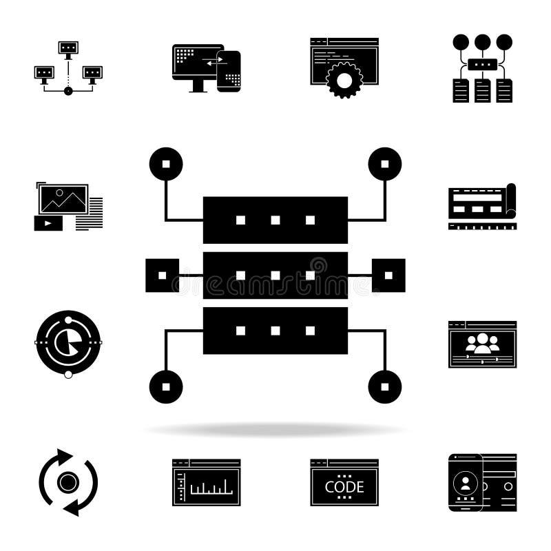 数据结构象 网和机动性的网发展象全集 向量例证