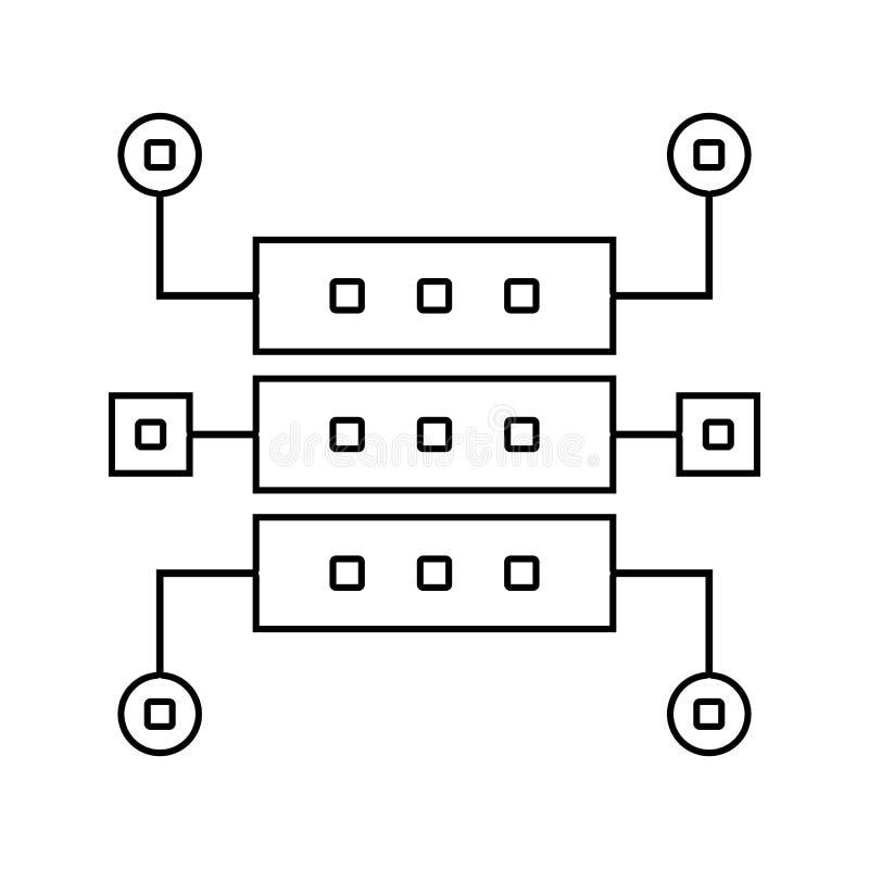 数据结构象 网络安全的元素流动概念和网应用程序象的 网站设计的稀薄的线象和 皇族释放例证