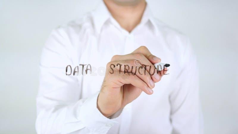 数据结构,在玻璃的人文字 免版税库存照片