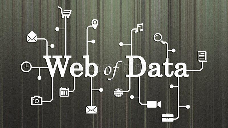 数据网/连接了数据概念 库存例证